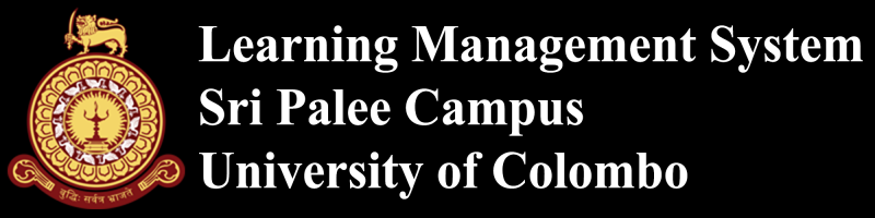 Learning Management System - Sri Palee Campus, University of Colombo
